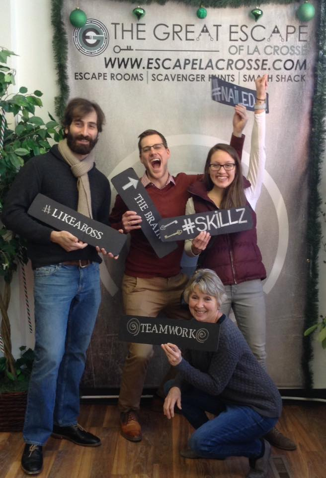 Customers at LaCrosse Escape Room - The Great Escape of Lacrosse